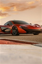 Orange McLaren P1 Auto iPhone Hintergrundbilder
