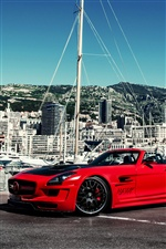 Red Mercedes SLS AMG Hamann Auto iPhone Hintergrundbilder