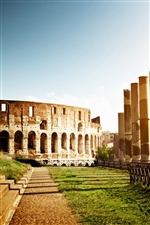 Colosseum, Italien, Architektur, Ruinen iPhone Hintergrundbilder