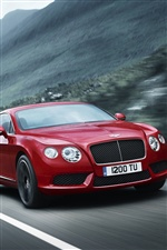 Red Bentley Continental GT V8 Auto iPhone Hintergrundbilder
