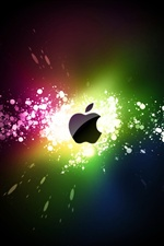 Apple-bunten ray iPhone Hintergrundbilder