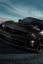 Chevrolet Camaro ZL1 black auto iPhone Hintergrundbilder