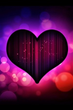 Dark purple heart love iPhone Hintergrundbilder