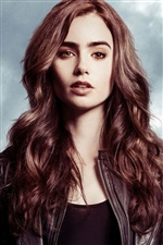 Lily Collins 03 iPhone Hintergrundbilder