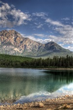 Patricia Lake, Jasper, Kanada iPhone Hintergrundbilder
