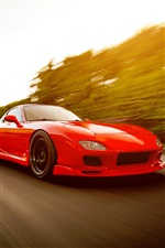 Red Mazda RX-7 FD Supersportwagen iPhone Hintergrundbilder