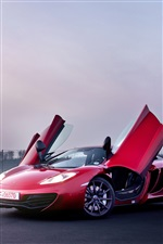 McLaren MP4-12C Supersportwagen rot iPhone Hintergrundbilder