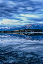 Pyramid Lake, Jasper National Park, Alberta, Kanada, Himmel, blau iPhone Hintergrundbilder