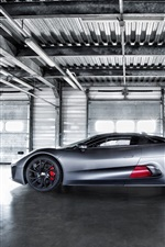 Jaguar C-X75 Hybrid Superseitenansicht iPhone Hintergrundbilder