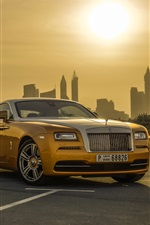 Rolls-Royce Wraith Luxus Gold Auto iPhone Hintergrundbilder