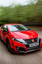 2015 Honda Civic UK-spec rotes Auto iPhone Hintergrundbilder
