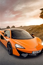 McLaren 570S Orange supercar iPhone Hintergrundbilder