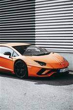 Lamborghini orange Supercar iPhone Hintergrundbilder